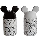 Disney Parks Gourmet Mickey Mouse Salt & Pepper Shakers Set - Disney Parks Exclusive & Limited Availability + Double Sided Minnie Stamp Included