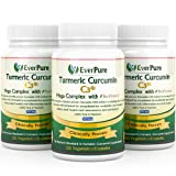 Turmeric Curcumin C3® Mega Complex with Bioperine Supplement - 500mg 120 Veggie Capsules *FREE Holistic Nutrition Ebook* - Contains Black Pepper, Great for Inflammation and Joint Pain - Ayurveda - Safe for Vegans