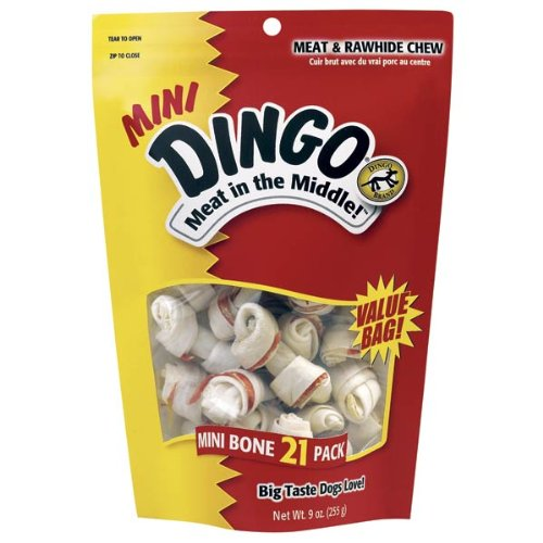 Dingo Mini Bones 21-Pack Value Bag, 9-Ounce
