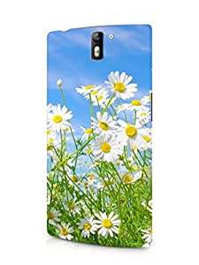 Cover Affair Flowers Printed Back Cover Case for OnePlus One