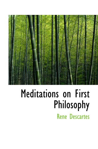 rene descartes first meditation Start studying rene descartes learn vocabulary, terms, and more 14 terms sgeovarapu rene descartes study play meditations on first philosophy descartes first discards all belief in things which are not absolutely certain, and then three ideas proposed by descartes in meditation iii.