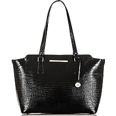 Chandra Business Tote<br>Black Fashion Lizard