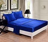 Honeymoon 4PC bed sheet set,, Blue, Queen