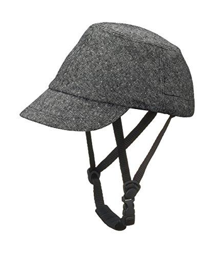 CAPOR(カポル) ウォルナット C6054SDJ ダークグレー S(52~55cm) 着せ替え用帽子付き自転車ヘルメット