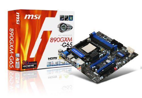 MSI 890GXM-G65 AM3 USB 3.0 + SATA 6Gb/s 890GX Chipset AMD Motherboard