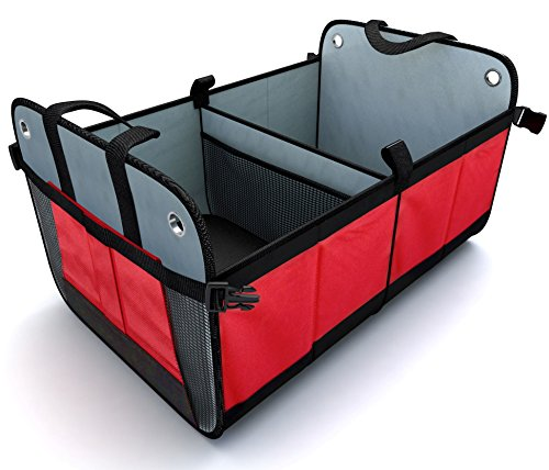 trunk organizer travel suv van car truck rear backseat storage cargo container ebay. Black Bedroom Furniture Sets. Home Design Ideas