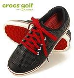 (クロックスゴルフ)crocs golf ドレイデン drayden メンズ 18975-02I ブラック/トゥルーレッド M10(28.0cm)