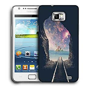 Snoogg Last Train Printed Protective Phone Back Case Cover For Samsung Galaxy S2 / S II