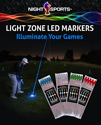 Night Sports Light Zone Markers Includes 48 Night Sticks For All Night Time Activity