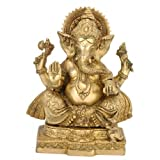 "Redbag Remover Of Obstacles Ganesha Brass Statue ( 10.5"" H X 6.75"" W X 4.75"" D )"