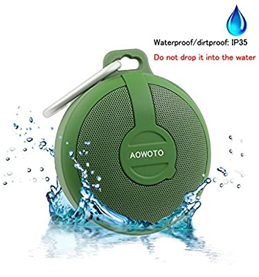 AOWOTO Outdoor Shower Ultrathin Waterproof Wireless Portable Bluetooth Speaker,for iPhone 6s Plus and Any Bluetooth Enabled Devices