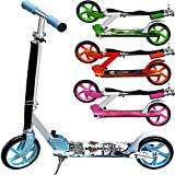 Scooter Girl Power Roller Tretroller Kinderroller Cityroller Kinder 205mm klappbar Umhängegurt