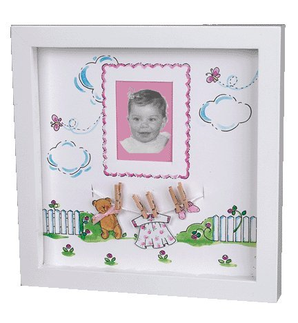 Baby's First Photo Shadowbox (Pink)