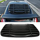 Windshield Louver Fits 2009-2017 Nissan 370Z | IKON Style Rear Window Louvers Cover Sun Shade ABS by IKON MOTORSPORTS | 2010 2011 2012 2013 2014 2015 2016