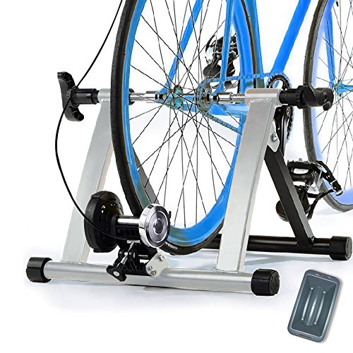 Health Line Products Magnetic 8 Levels Resistance Turbo Trainer For Bike w Front Wheel Block (Fan Wheel Exercise Bike compare prices)
