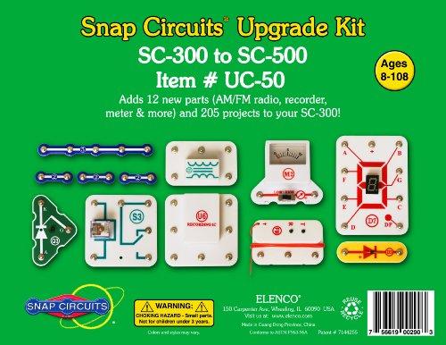 Elenco Electronics Snap Circuit Sc-300 To Sc-500 Upgrade Kit (Uc-50)