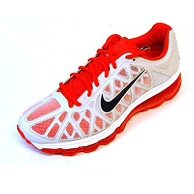 Nike Women's Air Max+ 2011 Running Sneaker (8 B(M) US, Summit White/Anthracite-Crimson)