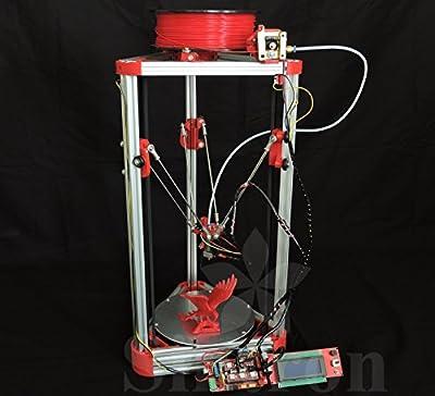 [Sintron] Ultimate 3D Drucker Printer Kossel Mini Full Complete Kit with Auto level + Bowden hotend + MK8 Extruder + RAMPS 1.4 + LCD2004 + MEGA 2560 + A4988 + NEMA 17 Motor + Endstop + Round Aluminum MK3 Heatbed + Filament for RepRap Rostock Delta