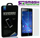 Smash Terminator® Premium Quality Tempered Glass Screen Protector for New Smart Phones Android (0.25mm) Ultra Thin Lightweight Rounded Edge Hardness up to 9H (harder than a knife) - Includes Microfibre Cleaning Cloth, Dust Remover. UK Designed Product by