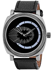 Watch Me Black Genuine Leather Analogue Watch For Men WMAL-080-B - B01L01OLB6