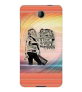 PrintVisa Stylish Cool Girl Attitude Quotes 3D Hard Polycarbonate Designer Back Case Cover for Nokia Lumia 650