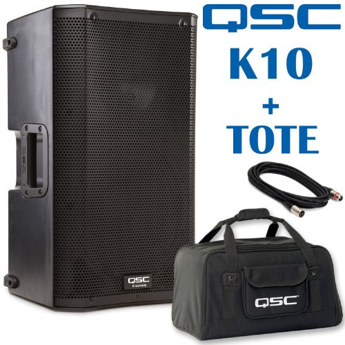 Qsc K10 10-Inch 1000 Watt Powered Pa Speaker And Tote Bag - Bundle