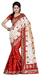 Lizel Fashion Women's Silk Saree (KalapiRed, Red)