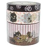 シール堂 Shinzi Katoh マスキングテープ ストーリーセット catcatcat ks-mt-20012