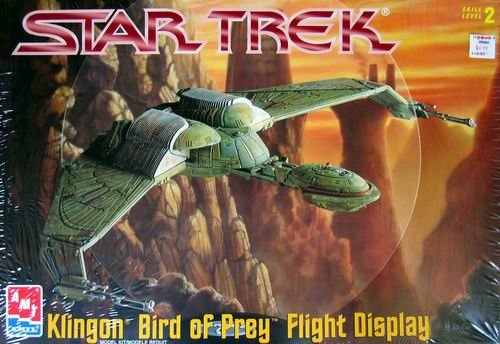 #6339 AMT Star Trek Klingon Bird of Prey Flight Display Model Kit,Needs Assembly