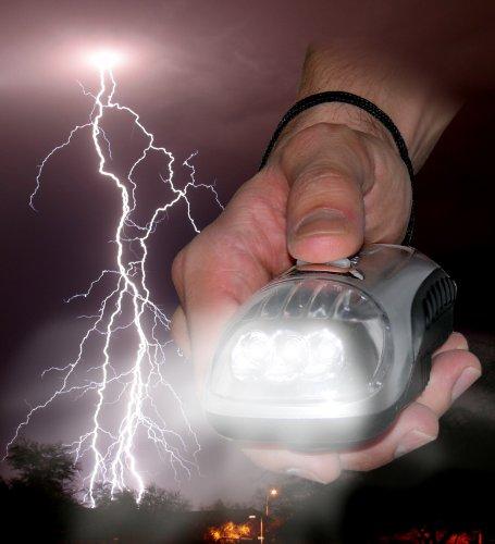 High Power Dynamo Torch - Hand Crank 3 Led Flashlight - Fd01C