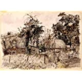 Cottage Gardens, Dalham, by Raymond Teague Cowern (V&A Custom Print)