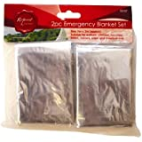 2 Pack Emergency Blanket Set, Ideal For Walkers, Climbers, Runners, Skiers
