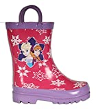 Disney Frozen Girls Anna and Elsa Pink Rain Boots - Different Sizes
