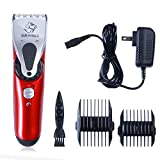 Augymer Professional Pet Dogs Cats Grooming Clippers, Low Noise Rechargeable Cordless Electric Ceramic Hair Trimmer