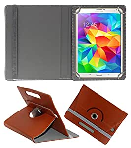 ACM ROTATING 360° LEATHER FLIP CASE FOR SAMSUNG TAB S 8.4 TABLET STAND COVER HOLDER BROWN