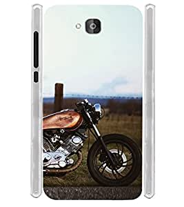 Vintage Orange Bike Soft Silicon Rubberized Back Case Cover for Huawei Honor Holly 2 Plus :: Honor Holly 2+