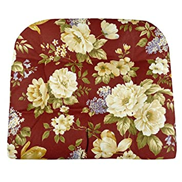 Outdoor Furniture Replacement Cushions   Linette Red Floral Garden Patio  Chair Seat Pad   U Shaped
