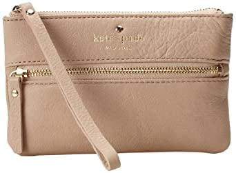 Kate Spade New York Cobble Hill BeeWristlet,Affogato,One Size