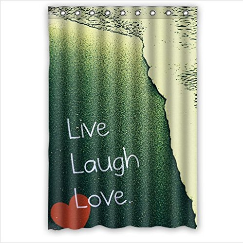Personalized Strong Live Laugh Love Quote Waterproof Mouldproof Bathroom 100 Polyester Shower Curtain 48Wx72Hinchs
