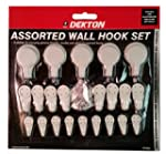 22pc Assorted Hard Wall Hooks Picture...