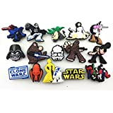 NEW 15pcs Star Wars Shoe Charms for Croc Shoes & Wristband Bracelet