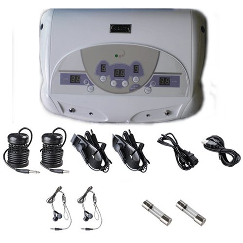 Dual Ionic Ion Detox Aqua Foot Spa Chi Cleanse Machine with MP3 Music Player