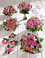 Pink and Lilac Wedding Rose and Freesia Collection 3