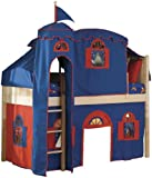 Bolton Furniture Cottage Low Loft Natural-Bot. Curtain/Top Tent/Tower, Blue ....