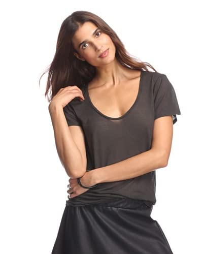 American Vintage Women's V-Neck Short Sleeve T-Shirt
