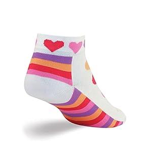 heart cycling socks