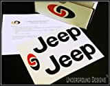 JEEP TJ LJ Fender Decals 1997-2006 Sticker Kit GLOSS BLACK by Underground Designs
