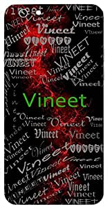 Vineet (Modest,Knowledgeable) Name & Sign Printed All over customize & Personalized!! Protective back cover for your Smart Phone : Moto G2 ( 2nd Gen )
