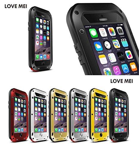 JUVENAiphone6 /plus専用保護ケース 耐衝撃、防塵、防水 強化ガラス (iPhone 6 Plus(5.5), ブラック)