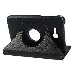 G-STAR Premium Leather 360 Rotating Flip Cover for Samsung Galaxy Tab 3 Lite T110 (Black)